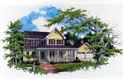 Country Style Home Design Plan: 22-125