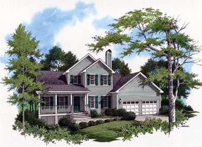 Country Style Floor Plans Plan: 22-126