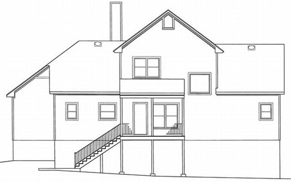 Rear Elevation Plan: 22-126