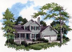 Country Style Home Design Plan: 22-126