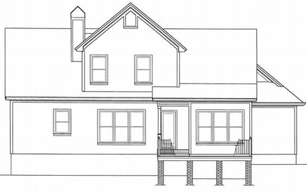 Rear Elevations Plan:22-130