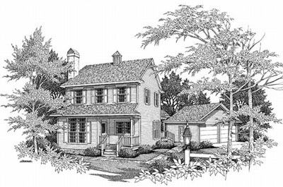 Traditional Style Home Design Plan: 22-131