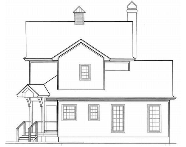 Rear Elevation Plan: 22-131