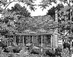 Country Style Floor Plans Plan: 22-134