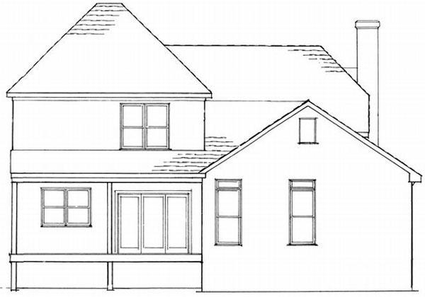 Rear Elevation Plan: 22-136