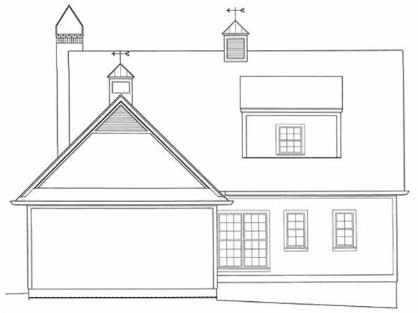 Rear Elevation Plan: 22-140