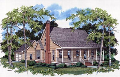 Country Style Floor Plans Plan: 22-143