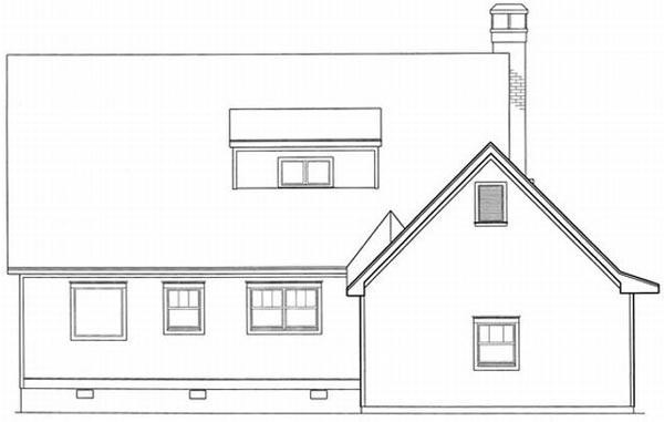 Rear Elevation Plan: 22-143