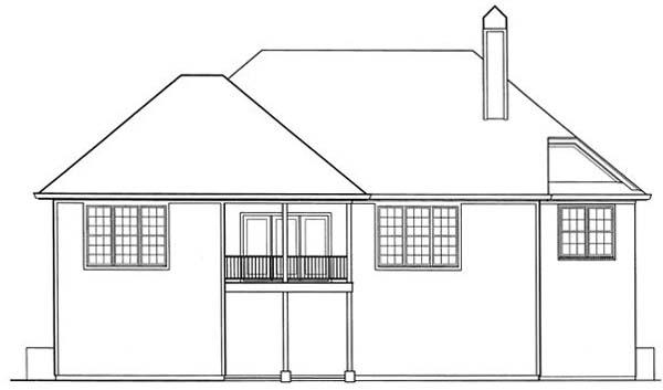 Rear Elevation Plan: 22-151