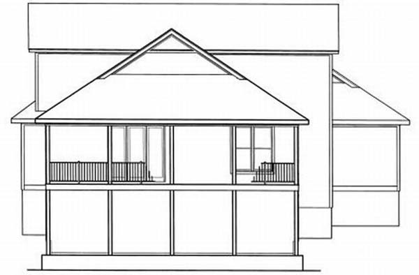 Rear Elevation Plan: 22-153