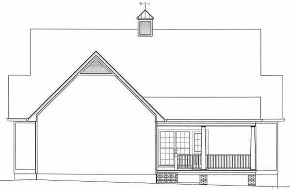 Rear Elevation Plan: 22-154