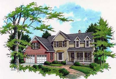 Country Style Home Design Plan: 22-155