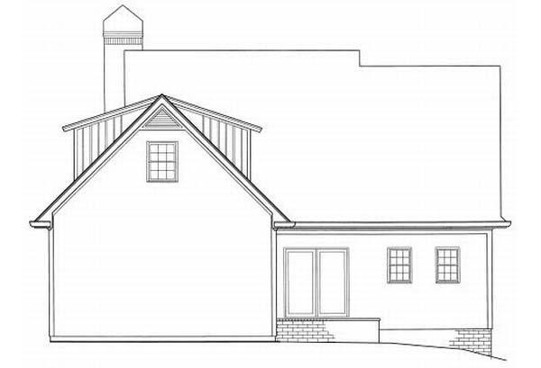 Rear Elevation Plan: 22-159