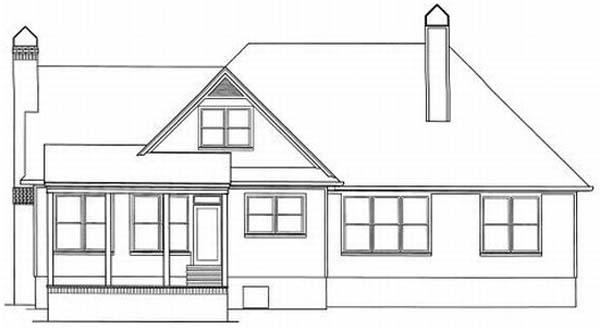 Rear Elevation Plan: 22-162