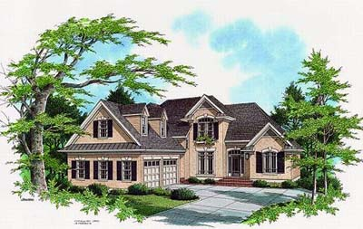 European Style House Plans Plan: 22-163
