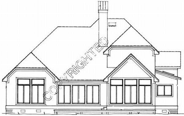 Rear Elevation Plan: 22-165