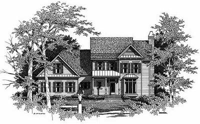 Country Style Home Design Plan: 22-167