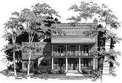 Plantation Style House Plans Plan: 22-169