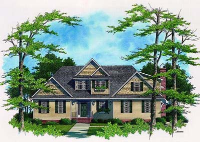 Country Style Floor Plans Plan: 22-172