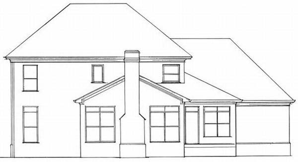 Rear Elevation Plan: 22-173