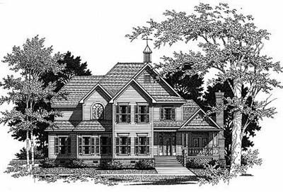 Country Style Floor Plans Plan: 22-175