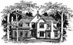 European Style House Plans Plan: 22-176