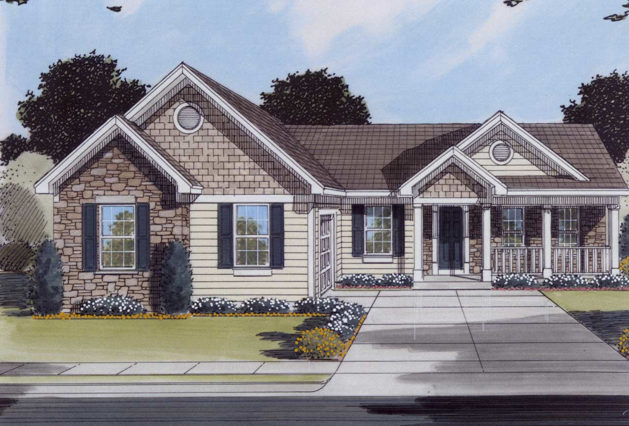 Traditional Style House Plans 23-104