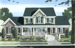 Southern-Colonial Style House Plans 23-114