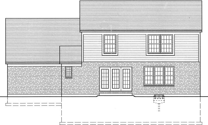 Rear Elevation Plan: 23-121