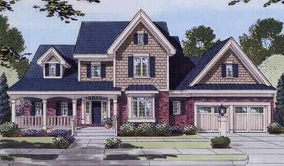Southern Style Home Design 23-124