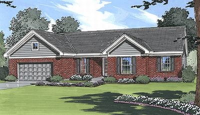Ranch Style Home Design 23-129