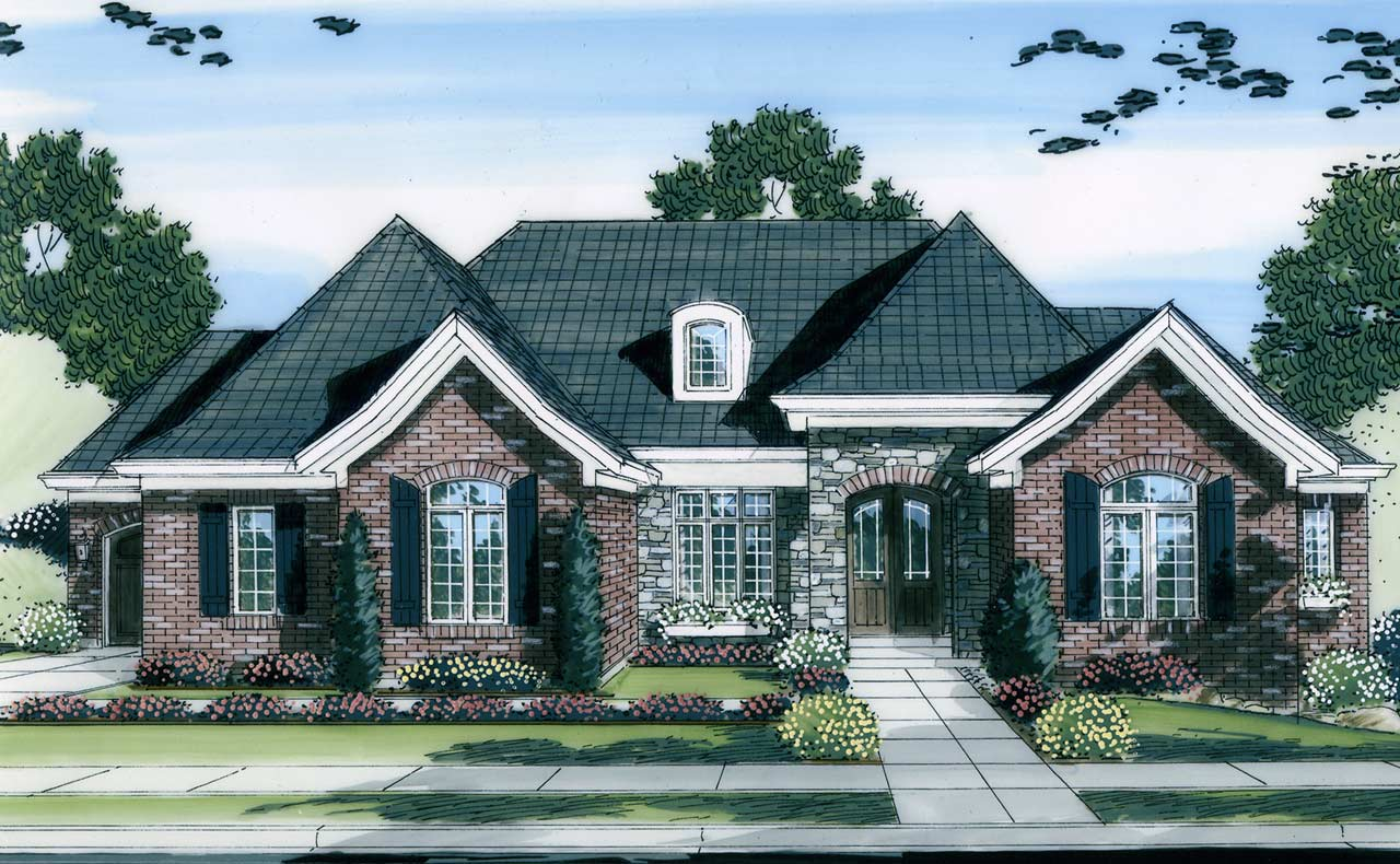 Southern Style Home Design 23-145