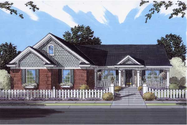 Southern Style Home Design 23-148