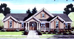 English-Country Style Floor Plans Plan: 23-152
