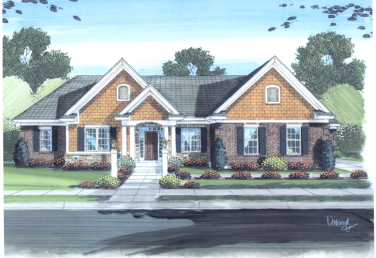 Traditional Style Floor Plans 23-213