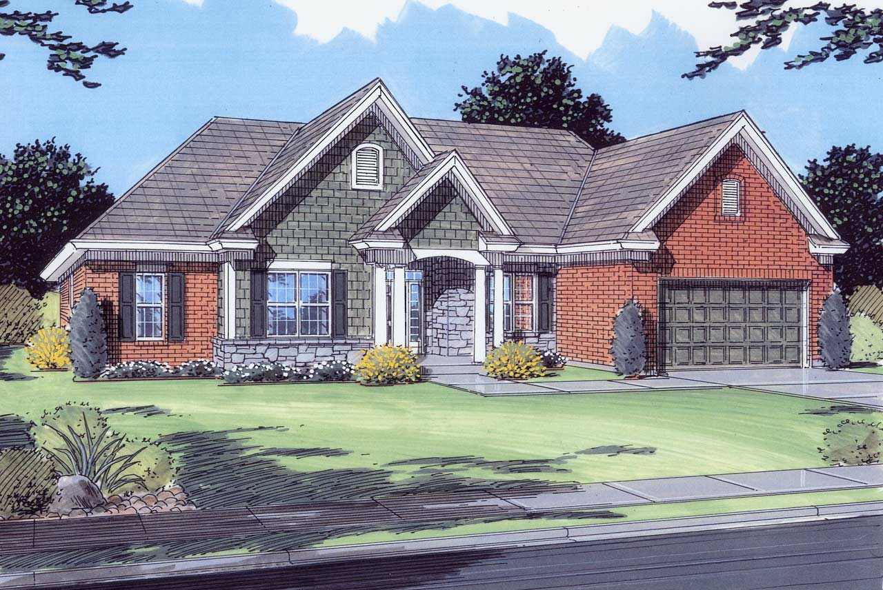 Traditional Style Floor Plans 23-214