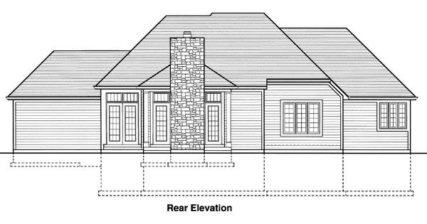 Rear Elevation Plan: 23-243