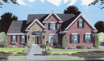 Southern-colonial House Plan - 3 Bedrooms, 2 Bath, 2506 Sq