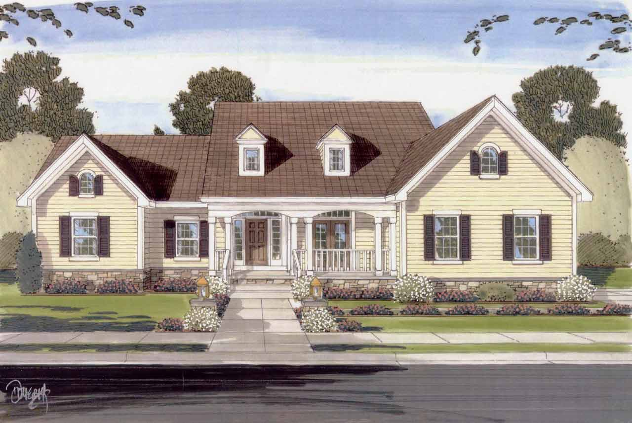 Country Style House Plans 23-406