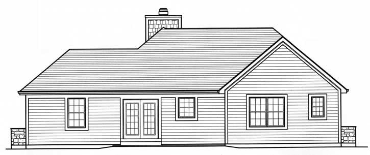 Rear Elevation Plan: 23-410