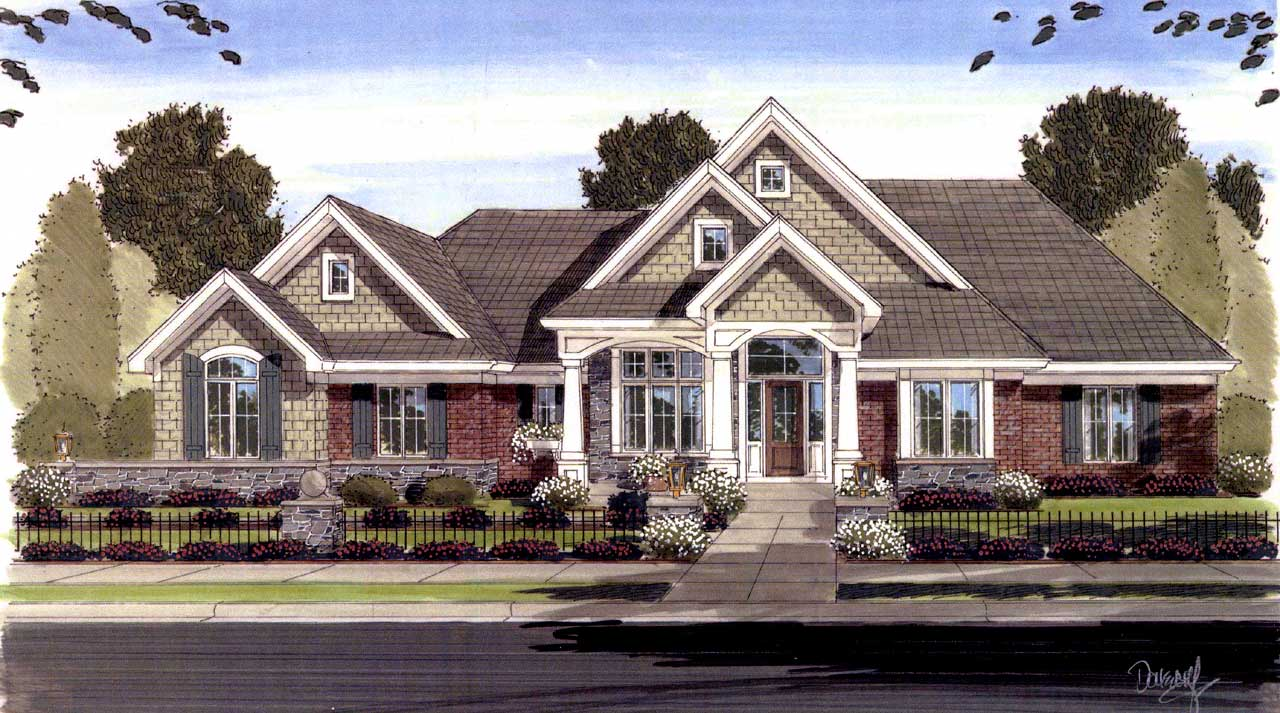 Traditional Style House Plans 23-416