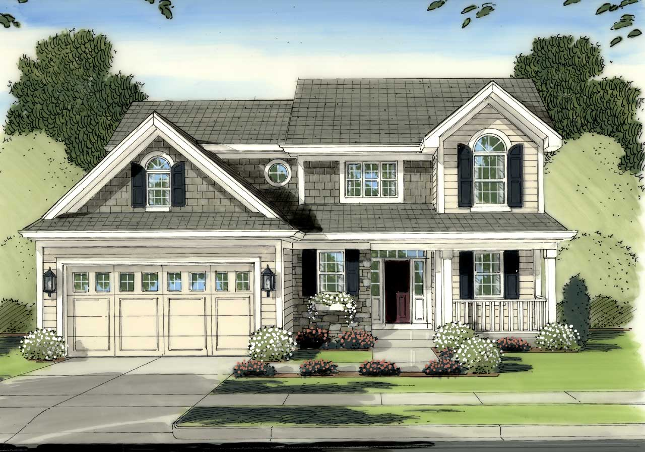 Traditional Style House Plans 23-418