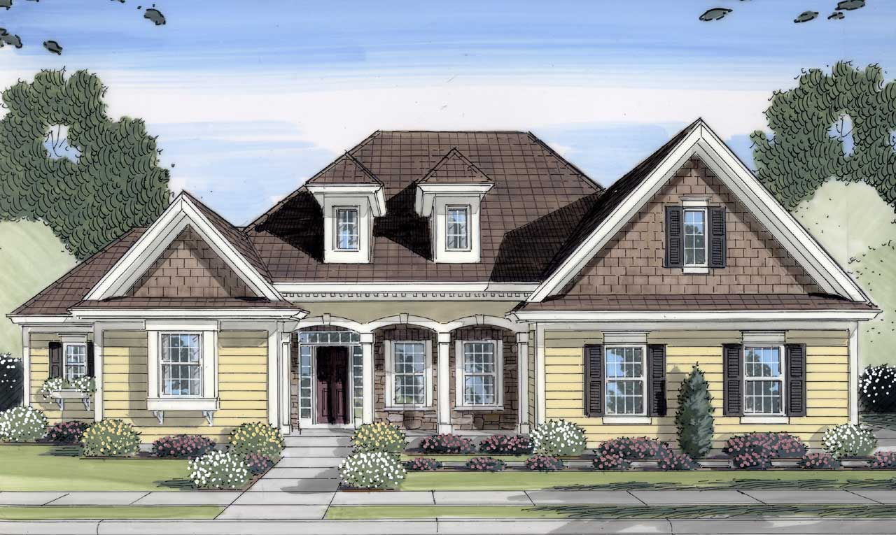 Traditional Style Floor Plans 23-430