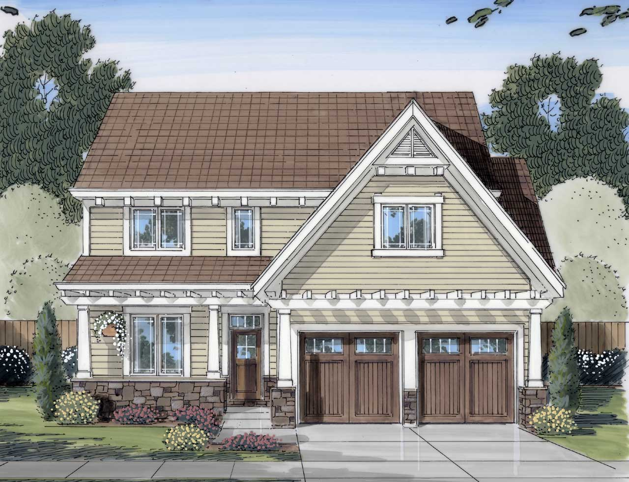 Country Style Home Design 23-433