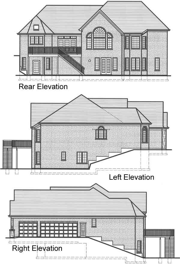 Rear Elevation Plan: 23-436