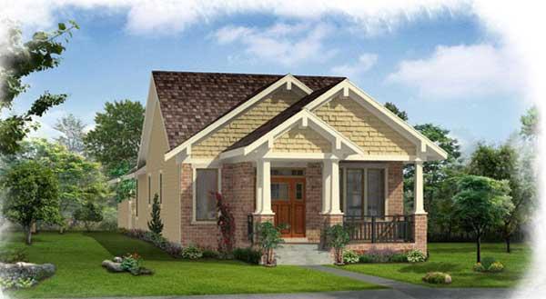 Craftsman House Plan - 2 Bedrooms, 2 Bath, 1136 Sq Ft Plan ...