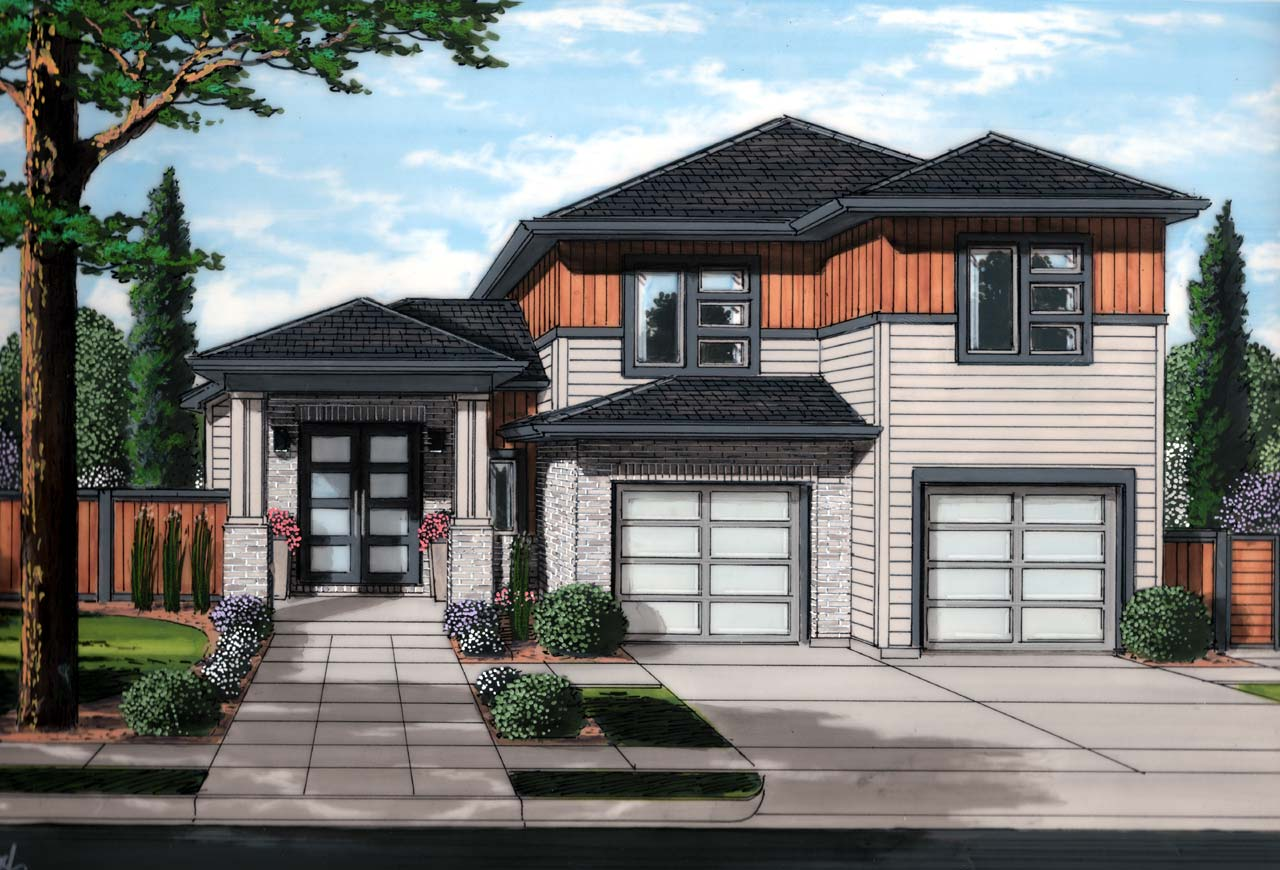 Contemporary Style Floor Plans Plan: 23-532