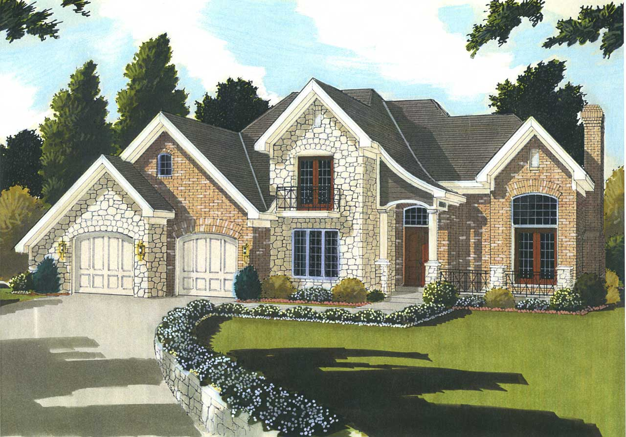 French-country Style Floor Plans Plan: 23-565