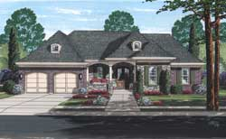 French-Country Style Floor Plans Plan: 23-572