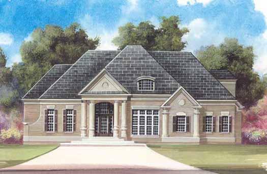 European Style Home Design Plan: 24-101